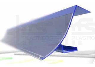 Porta Etiquetas Para Gôndolas - Azul, Vermelho E Amarelo - Tamanho 092 - Kit Com 40 Unidades