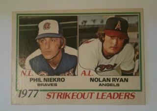 Phil Niekro / Nolan Ryan 1978 Topps 1977 Strikeout Leaders