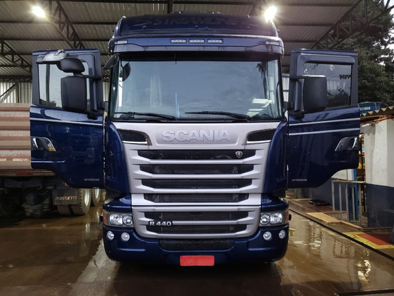 Scania R 440 Streamline 8x2 Ano 2014 Top Impecável Km 263.