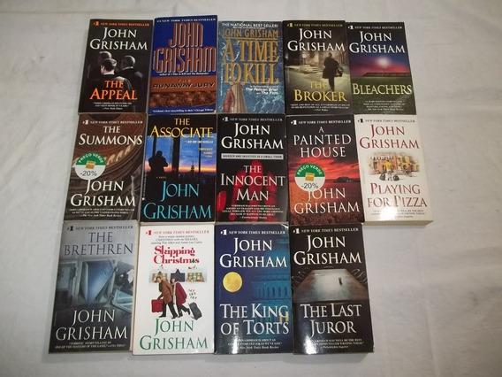 Lote 14 Livros John Grisham Em Inglês Romances Pocket