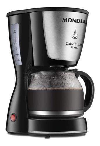 Cafeteira Elétrica Mondial Dolce Arome Inox Preto 220v - C32