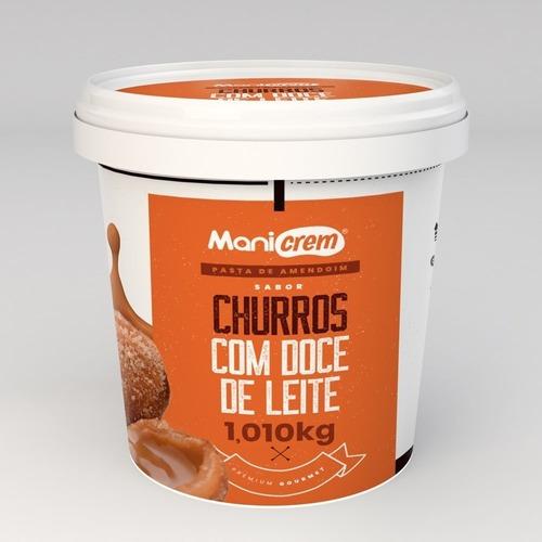Imagem 1 de 3 de Manicrem Pasta Amendoim Sabor Churros Doce De Leite 1,010kg