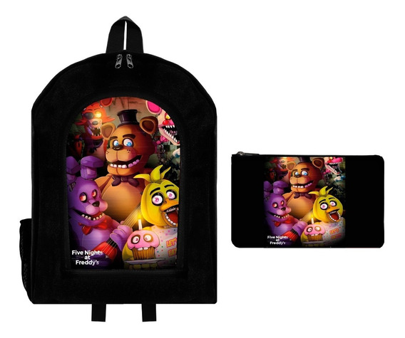 Combo Mochila Reforzada + Cartuchera Five Nights At Freddys4
