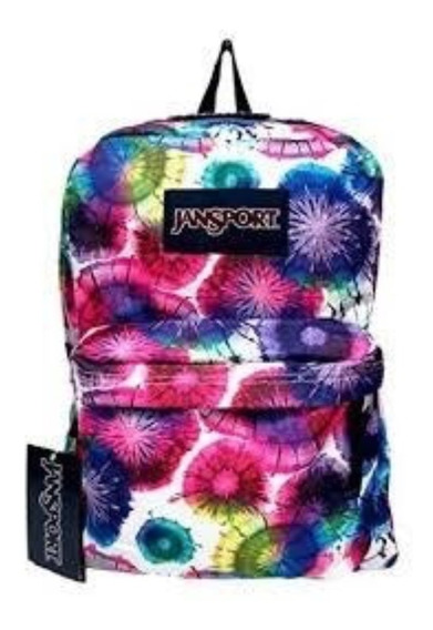 Mochila Jansport Superbreak Multi Colors Fucsia 25l Original