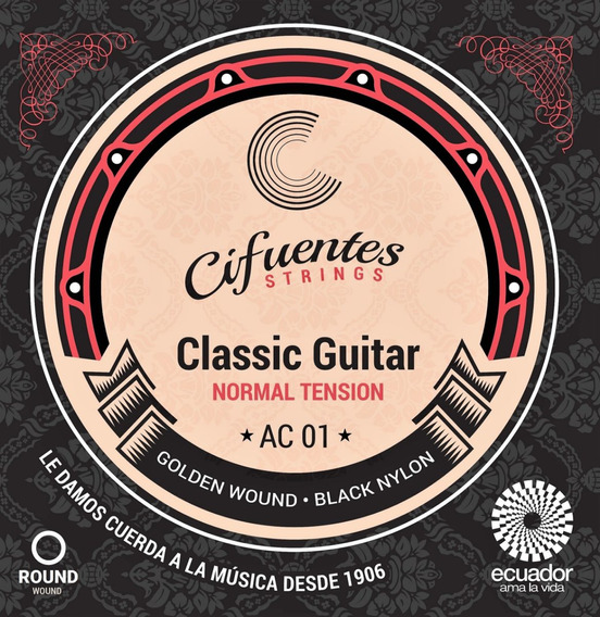 Cuerdas Guitarra Clásica Ac1 Golden Cifuentes Strings