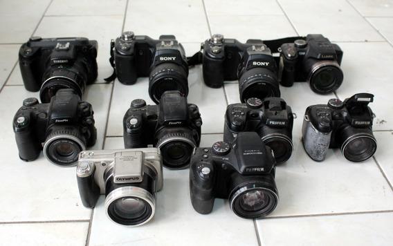Lote 10 Câmeras Digitais Zoom Sucatas P/ Retirada De Peças