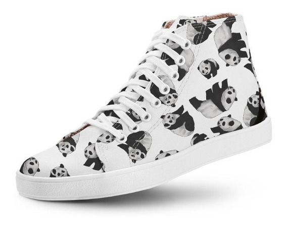 Tênis Casual Cano Alto Long Vegano Panda Usthemp