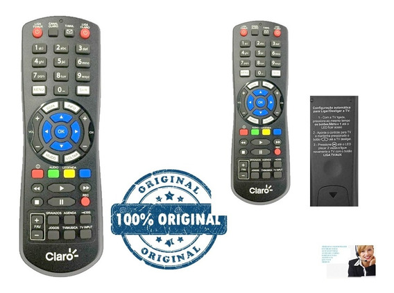 Kit 2 Controle Remoto Claro Tv Hd Original Novo Lacrado