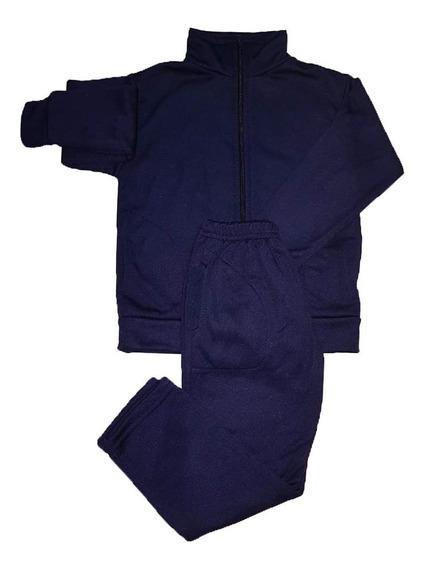 Conjunto Campera Pantalon Acetato Niños Colegial T: 4 Al 16
