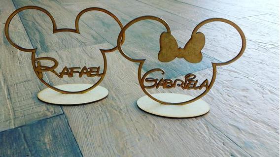 Lembrança Minnie Ou Mickey Com Nome Personalizado - 10 Un