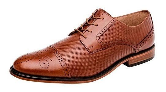 Zapatos Casual Oxford Santini Caballero Piel Camel Dtt 18908