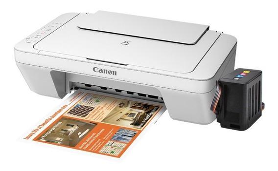 Impresora Canon Mg2410 + Sistema De Tinta Continua Anti Aire