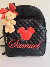Mochila Personalizada Tema Aplique Mickey