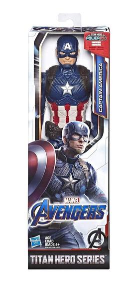 Boneco Titan Hero Power Fx 2.0 Capitão América Avengers