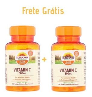 2 X Vitamina C Sundown Naturals 500mg 100 Tablets Importado