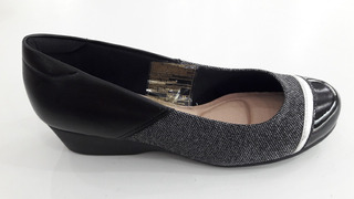 Zapato Dama Taco Chino Combinado Cómodo Elegante 35 Al 40