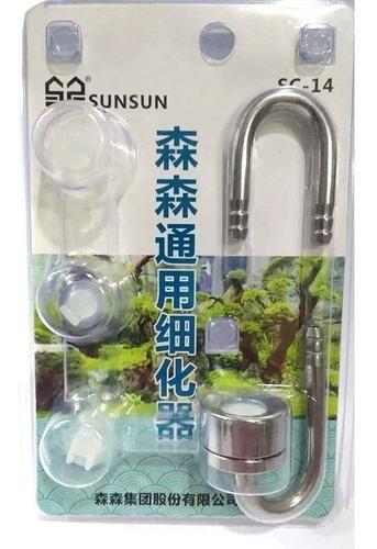Imagem 1 de 1 de Sunsun Sc-14 Difusor De Co2 Inox Com Curva