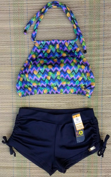 Kit Bikini/biquini Cropped + Plus Size Tal Mãe Filha Filho