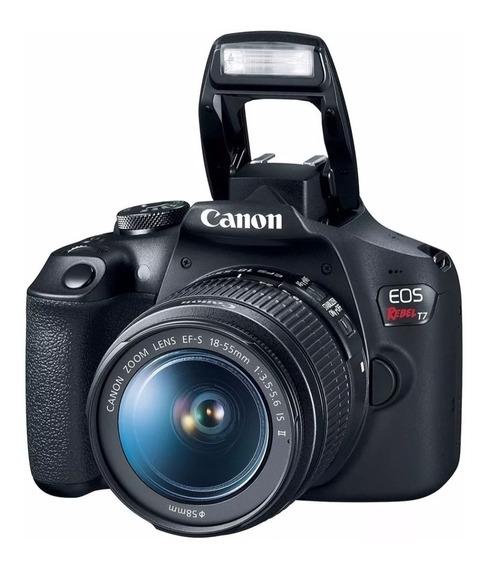 Canon Eos Rebel T7 18-55mm + 64gb + 32gb + Bolsa + Tripe