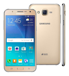 Smartphone Samsung Galaxy J7 Duos Dourado Com Dual Chip