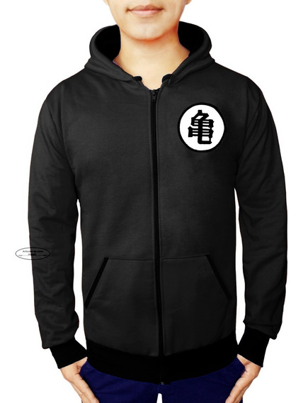 Sudadera Chamarra Dragon Ball Goku Negra Black Premium Super