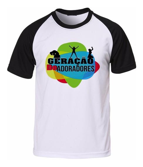 Camisa Camiseta Raglan Gospel Evangélica Geração De Adorador