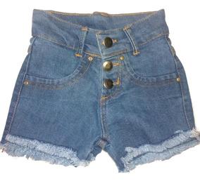 Short Jeans Infantil Meninas Feminino Tamanhos 06/08/10/14
