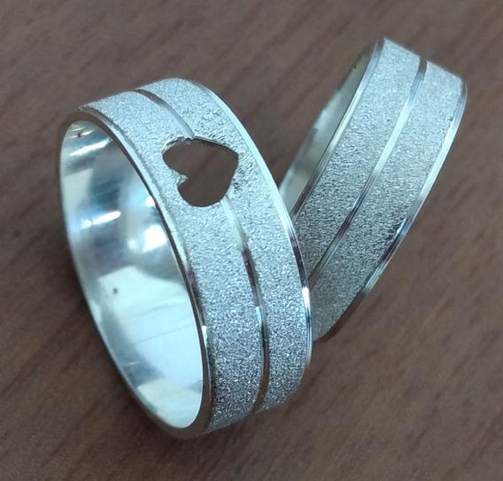 Par De Aliança Prata 950 Compromisso Noivado Casamento