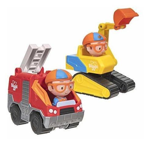Mini Vehiculos Blippi Paquete De 2, Excavadora Y Camion De