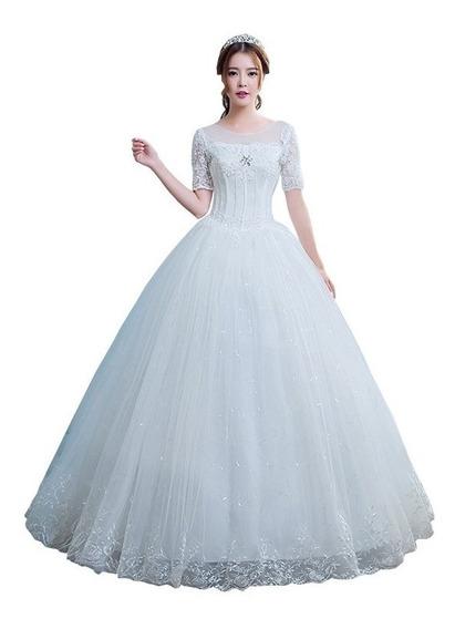 Vestido De Noivas Casamento Princesa Noblesse