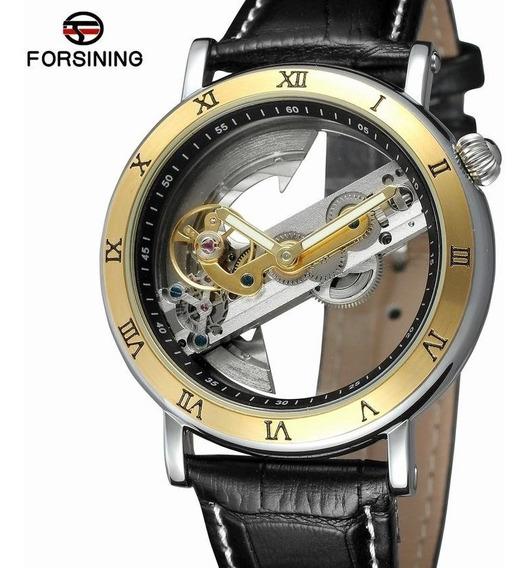 Relógio Esqueleto Automático Forsining Luxo + Caixa