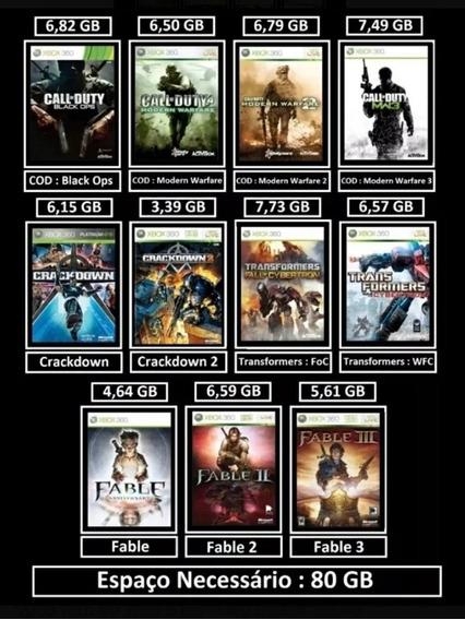 Jogos Xbox 360 11 Jogos Mídia Digital 13 $ Reais A Vista
