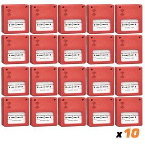 Kit 10x Acionador Manual 12/24v +sirene Frete Grátis C2.