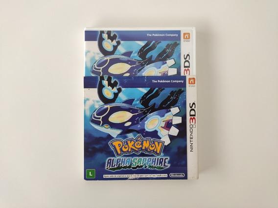 Pokémon Alpha Sapphire 3ds Mídia Física Completo Com Luva