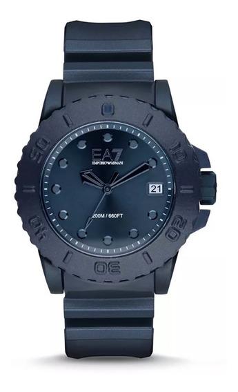 Reloj Emporio Armani Ar6083 Ea7 Sportivo Blue Rubber 46mm
