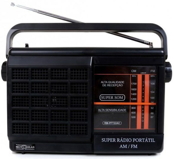 Radio Portátil Motobras Am Fm Energia E Pilhas Rmpft22ac