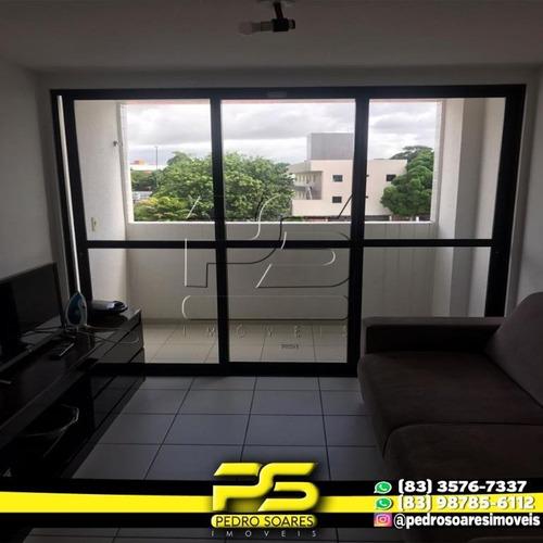 Apartamento Com 2 Dormitórios Para Alugar, 56 M² Por R$ 1.300/mês - Bancários - João Pessoa/pb - Ap2858