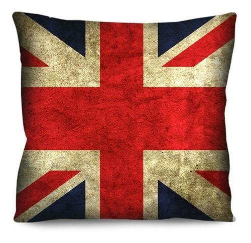 Imagem 1 de 3 de Capa De Almofada Bandeira Inglaterra Envelhecida 42cm R3