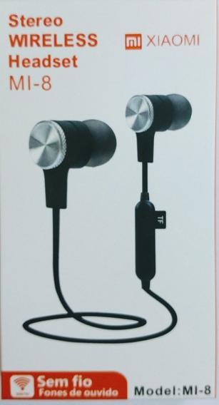Headset Fone De Ouvido Xiaomi Mi-8 Wireless Sem Fio