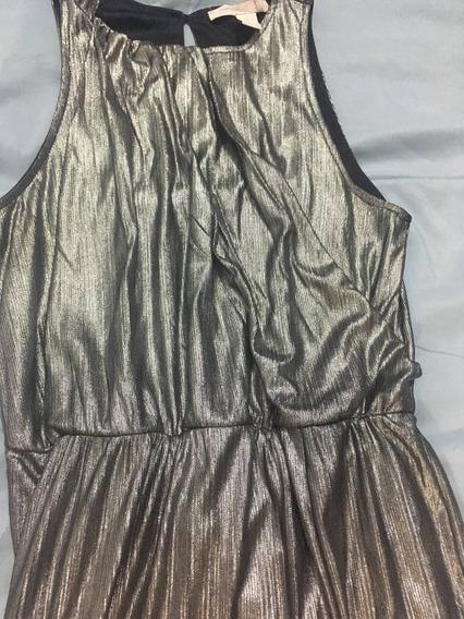 Vestido Largo Gris Metálico Forever21