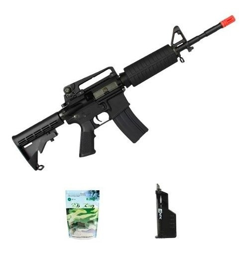 Rifle Airsoft King Arms M4a1 Grade + Speed Loader + Bbs