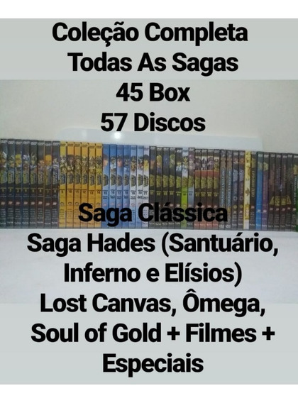 Dvd Box Os Cavaleiros Do Zodiacos Todas As Sagas + Filmes