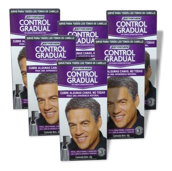 Just For Men Control Gradual Cubre Algunas Canas Pack 6un