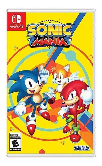 Sonic Mania - Nintendo Switch - Novo - Lacrado -mídia Física