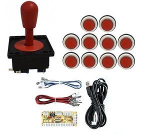 Comando Aegir 10 Botões Corpo Branco E Zero Delay Vermelho
