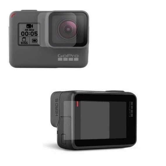 4 X Pelicula Vidro Temperado Camera Gopro Hero 7 Lente+visor