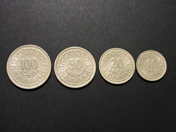 Túnez Set De 4 Monedas Sin Circular