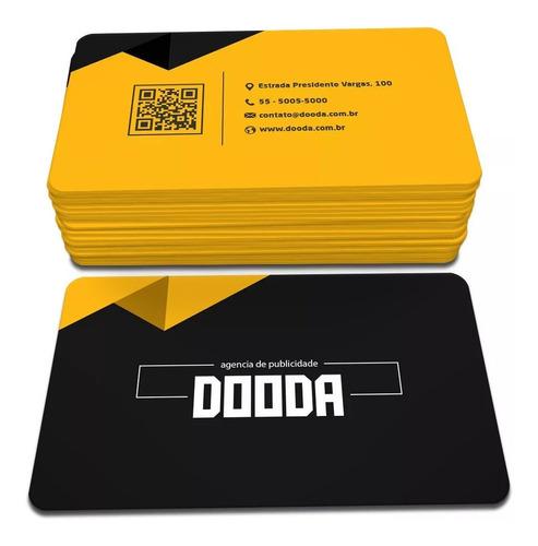 Imagem 1 de 1 de 1000x Cartão De Visita Pvc Personalizado 0,3mm 5x9cm 4x4