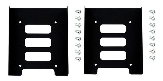 2pcs 2.5 A 3.5 Ssd Hdd Metal Adapter Dock Case Caddy Moun