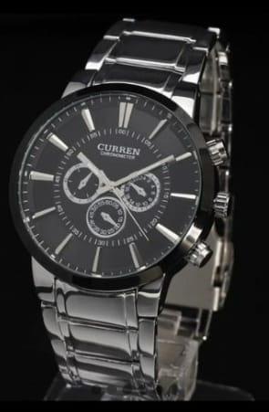 Relógio Masculino Curren Em Pulseira De Aco 316 L